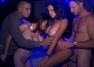 Stroking these party girls