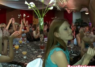 European party cutie gets a taste of cum