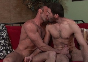 Males kissing & jerking
