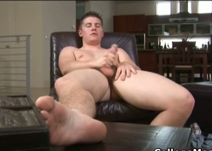 Chad Macon jerking his cute college cock