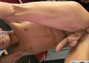 Amazing gay stud gets ass fucked hard