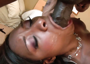 Imani Rose is wet as the ocean in this steamy interracial scene with a lot of pussy drilling