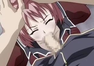 Schlong drills a pink haired hentai slut