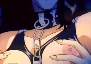 Chained toon slave girl fondled and fingered