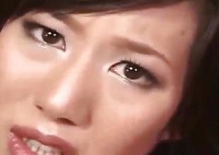 Tsubasa Okina gets vibrator over crotchless