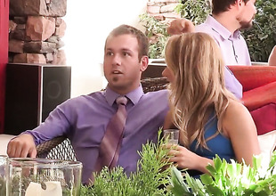 Carter Cruise is at a wedding