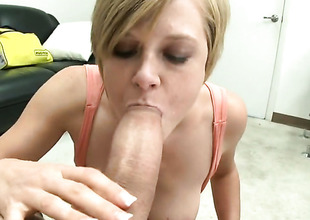 Blonde Tracy Lee with bubbly booty gets her twat used with no compassion by guys subrigid pole