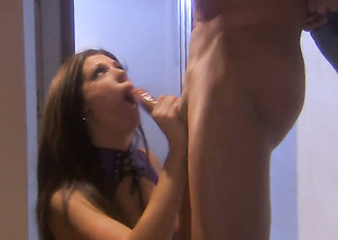 Roxy DeVille satisfies mans sexual needs and then gets her pretty face cum covered