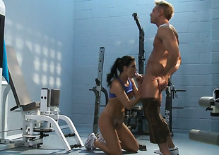 India Summer exposes her nasty bits as she acquires her sweet dicked hard and unfathomable by horny as hell guy