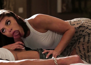 Adriana Chechik spends her sexual energy with sturdy love wand in her face hole