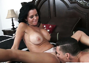 Clover pops out his tool to fuck sex starved Veronica Avluvs cunt