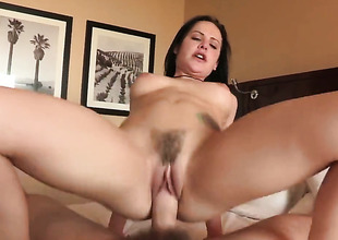 Katie St. Ives gets her throat attacked by Manuel Ferraras throbbing man meat