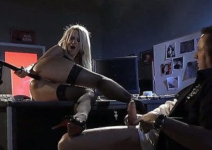 Jessica Drake is a fine looking MILF with lengthy golden-haired hair. Sexy woman in black stockings gets her fuck hole pounded then man shoots his load in her mouth. Watch Jessica Drake do it.