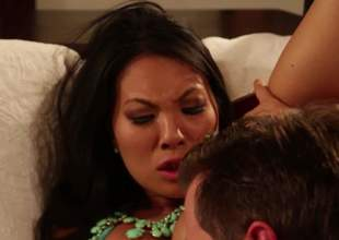 Super hot oriental woman Asa Akira gets her dark gap licked and her neatly trimmed muff fucked by her horny as hell fuck buddy. Nothing can stop him from drilling her tight exotic gap