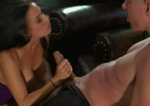 Vanilla Deville is a enjoyable busty woman. Dark haired large racked woman parts her enjoyable legs the way man can't resist. He licks and fucks her juicy snatch with large enthusiasm