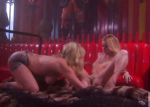Adrianna Nicole and Kelly Wells and have a fun lesbian sex too much to stop