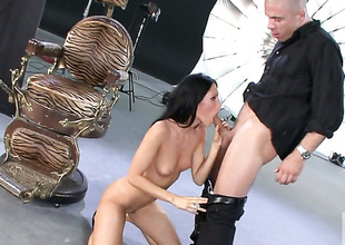 Jennifer Darksome has some dirty dreams to be fulfilled with guys rock solid meat stick in her face hole