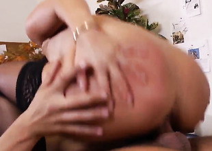 Exotic Asa Akira can't live a day without taking Rocco Reeds sturdy man meat in her muff pie