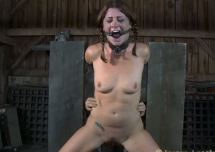 Breasty beauty can't live out of getting bizarre cum-hole castigation
