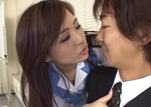 He meets two hotties at work and fucks them both in the office