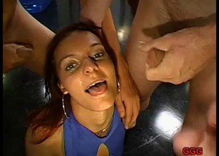 German redhead cum slut showing how she swallows semen