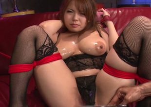 Impressively hot Japanese lady Kanna Itou wanna receive love tunnel fucked with toy