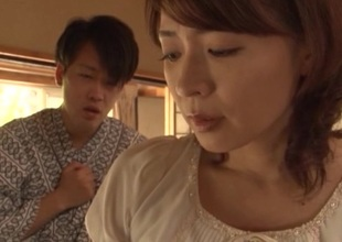 Mature japanese model Hisae Yabe enjoys every inch of the hard ramrod