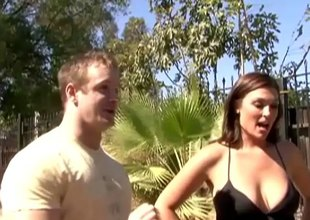 Sexy stud picks up a married MILF in public and fucks her brains out