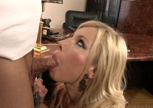 Immaculate office girl gets a surprise fuck visit from her dude hardcore
