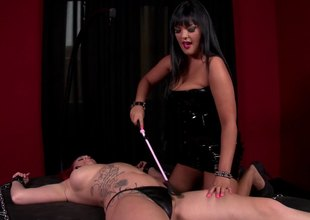 Redhead acts sex slave in a throbbing bdsm sex encompassing rough spanking