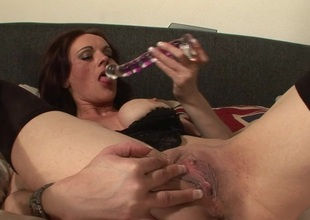This horny MILF can't live without playing with herself on daybed