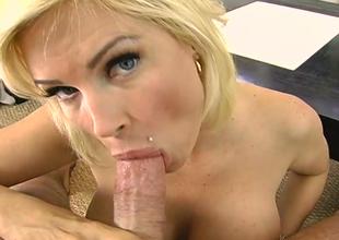 Curvy blonde bitch Diamond Foxxx  fucks lustful dude on POV cam