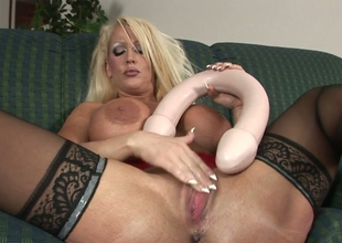 Wicked mommy with big butt Alura Jenson stuffs her snatch  with toys