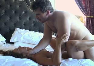 Hawt brunette lady Eva Lovia gets banged by Manuel Ferrara