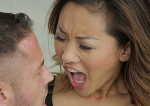 Delightful Asian chick Alina Li gets nailed by Danny Mountain