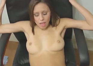 Cute brownhead chick with tight cum-hole hole is getting nailed missionary style