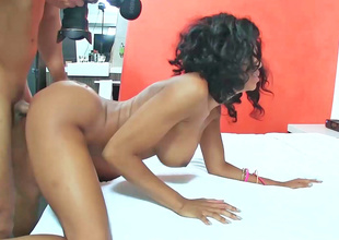19 year old ebony girl is having her wet crack fingered