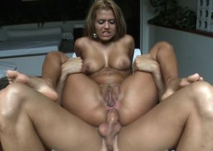 A blonde is showing us how much she loves to do anal-copulation