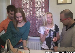 Angie Koks & Yan & Sabrina Moore & Floyd in Sharing The Fruit Of Group Sex - YoungSexParties