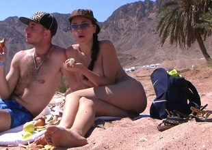 Aurita in porn travel video with a couple of lovers having sex