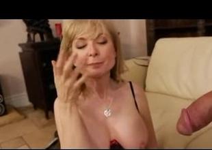 The Blonde MILF babe, Nina Hartley in fucking act