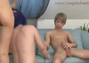 Plenty of throat work for a sex serf who acquires drilled into the