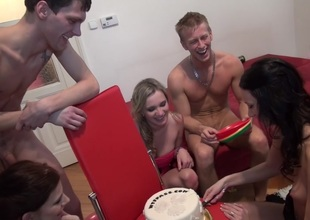 Charlotte Reed & Gal Piaff & Corrine & Eveline & Ilsa in nude students enter a excited group sex adventure