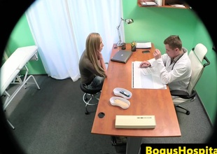 Real patient doggystyle screwed in doctors office