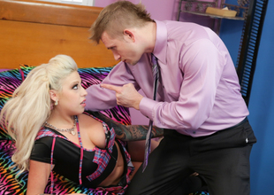 Vyxen Steel & Bill Bailey in School Girl Roleplay Scene