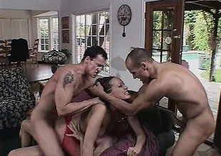 3 cocks may not be sufficiently to tame her insatiable lust for flesh