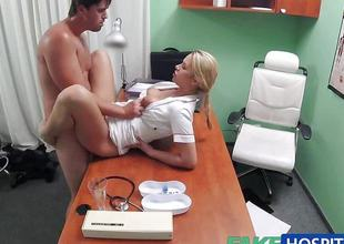 Randy nurse loves to fuck