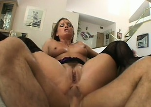 Flower Tucci has got her ass full of cum and she won't waste any of it