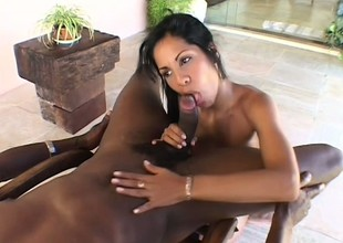 Attractive Latin witch is doing fantastic cum-stick with her face hole
