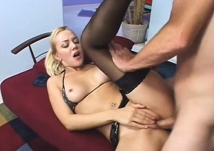 Nasty German blonde has a great time getting deeply plowed